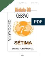 Apostila Ensino Fundamental  CEESVO - Geografia - Módulo 08