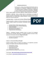 ASIGNATURA PROYECTO 3 (Parciales y Contenidos)1