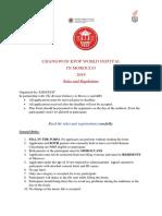 Rules KWF 2019
