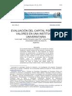 Evaluación Del Capital Psíquico