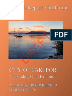 Draft 2019-20 City of Lakeport Recommended Budget