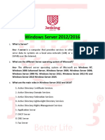 Windows Server 2012-2016 Interview Questions