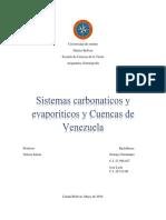 Sistemas Carbonaticos y Evaporiticos