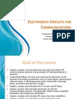 Electronics Circuits for Communications