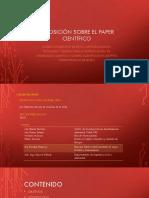 Exposición Sobre El Paper Científico