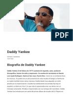Historia y Biografía de Daddy Yankee