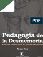 Pedagogía de La Desmemoria