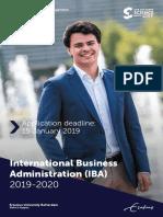 IBA Brochure 2019-2020