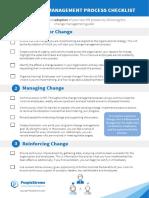 Steps to Effective Change Management Checklist