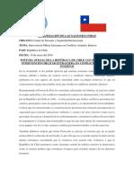 Postura Oficial de Chile