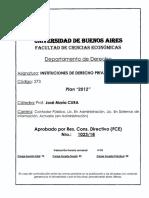 273 Instituciones de Dcho Privado Catedra Cura
