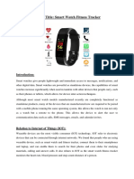Proposal Smart Watch Fitness Tracker (Updated)