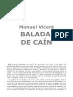 Vicent Manuel - Balada de Cain