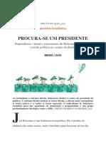 Miguel Lago-procura-se Um Presidente_piauí_edição 152 Maio_2019