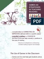 Games as Strategies in Teaching Reading-dr Albacete