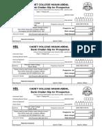 Challan Form for Prospectus