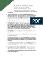 Written Rehabilitation Standards July 2011
