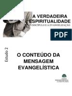 Aula 2 o Conteudo Da Mensagem Evangelistica