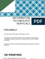 Information Technology Verticals - Kay Presentation