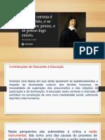 Contribuições de Descartes à Educação