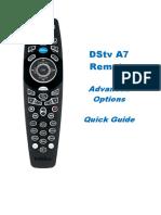 DStv Remote A7 AdvancedOptions v1.1