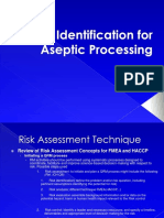 Risk Identification for Aseptic Processing