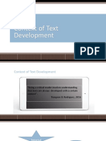 RWS Context of Text Development-Intertext Hypertext- Copy