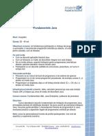 Descriere Curs - Fundamentele Java