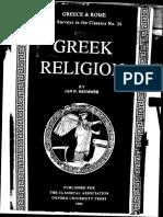 J.N. Bremmer, Greek Religion (NSC, 24) (1994)
