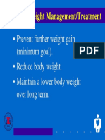 Goals of Weight Management Treatment