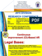 CI Based Research Conference Ppt