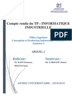 Rapport informatique industrielle CHENILLARD 8 LED