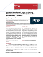 Comunicação/educação nas organizações? Primeiro ato de uma metodologia de análise aplicada junto a startups