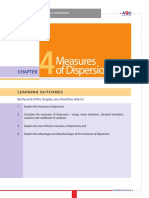 Chapter4 Measures of Dispersion