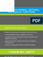 Limits of Polynomial, Rational, And Radical