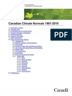 Canadian Climate Normals 1981 2010 Calculation Information