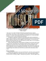 Paul Z. Gregor - Daniel's Messagge to Modern Man
