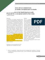 Benedetti a - Espacios Fronterizos en El SUr Suramericano. Propuesta de Un Modelo Conceptual Para Su Estudio(1)