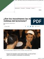 Son Los Musulmanes Las Mayores Víctimas Del Terrorismo