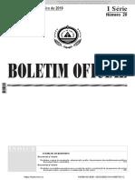 f) e g)- Decretos Lei Nº 8 e 9 -2019 - Regime de Org Escola Basica e Secund