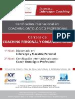 Programa de La Carrera de Coaching Personal y Organizacional