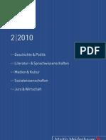 Martin Meidenbauer Verlag Vorschau 2/2010