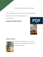 Reconocimiento de equipo industrial en los Laboratorios de Operaciones Unitarias