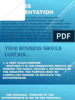Business Implementation