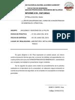 Informe 09 - Molienda y Dencidad de La Pulpa de Un Mineral.