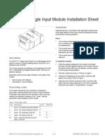 SIGA-CT1 Single Input Module Installation Sheet