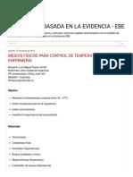 Enfermeria Basada en La Evidencia - Ebe_ Medios Físicos Para Control de Temperatura en Enfermería