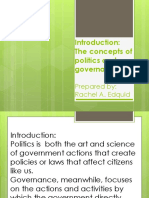 Lesson 1 the Concepts of Politics and Governance