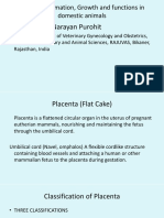 Vet Obst Lecture 2 Placenta Formation and Growth