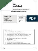 LRN June 2018 Level C2 Past Paper